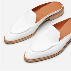 Everlane modern mule white leather loafer 9